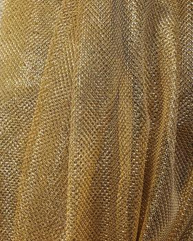 Lurex Metallic Mesh 1 Tone Gold - Tissushop