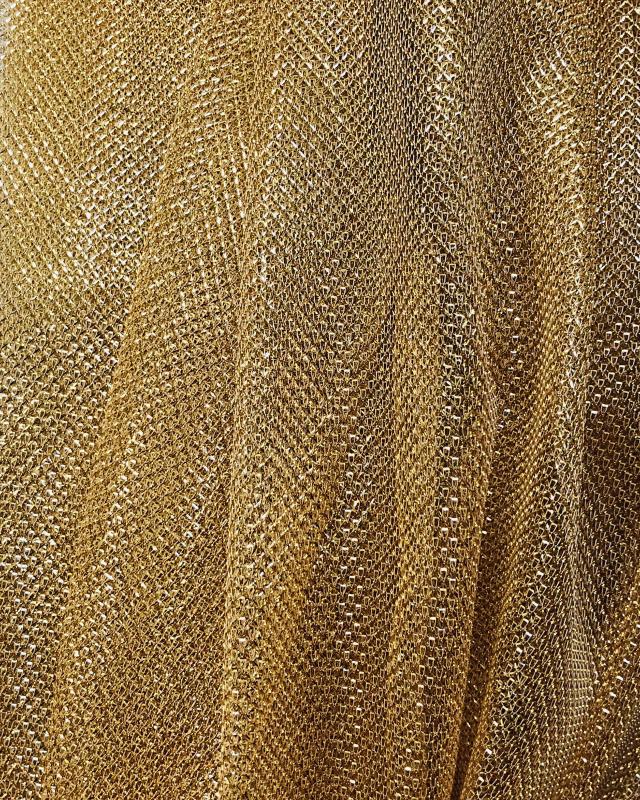 Lurex Metallic Mesh 1 Tone Gold - Tissushop