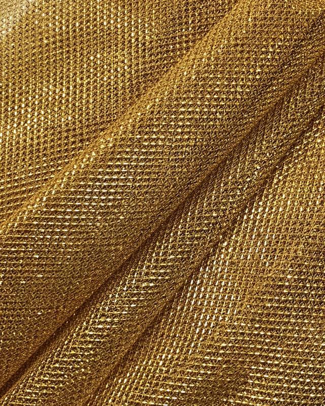Lurex Metallic Mesh 1 Tone Golden - Tissushop
