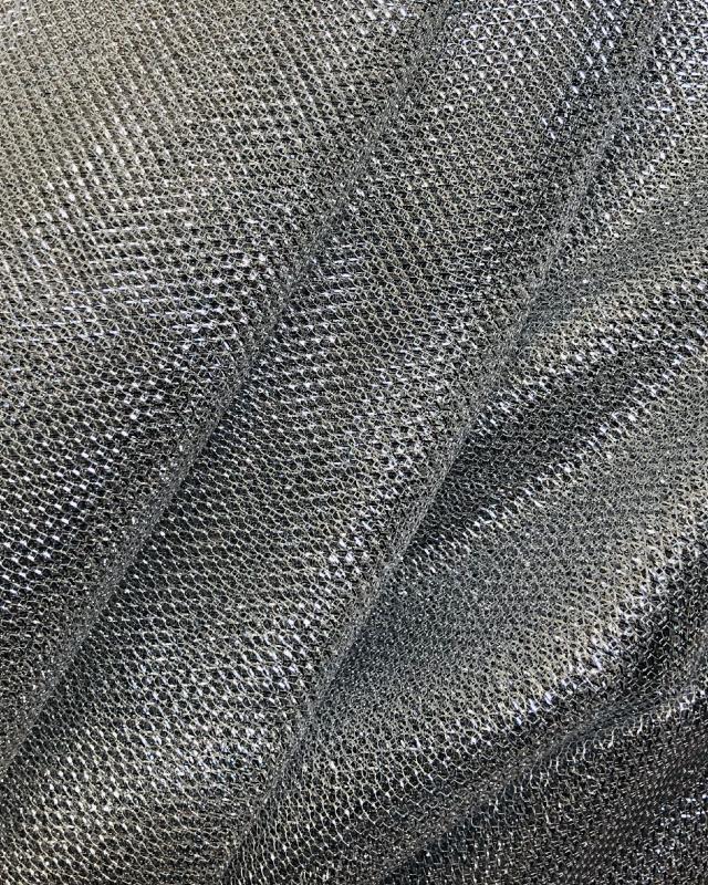 Lurex Metallic Mesh 1 Tone Silver - Tissushop