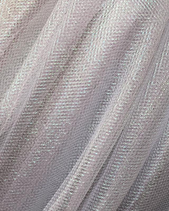 Lurex Metallic Mesh 1 Tone Silvery - Tissushop