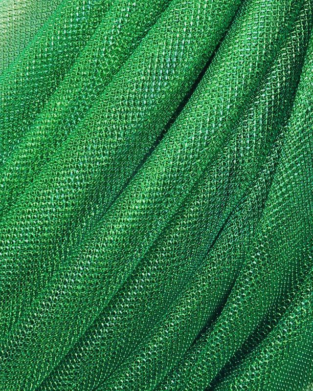 Lurex Metallic Mesh 1 Tone Green - Tissushop