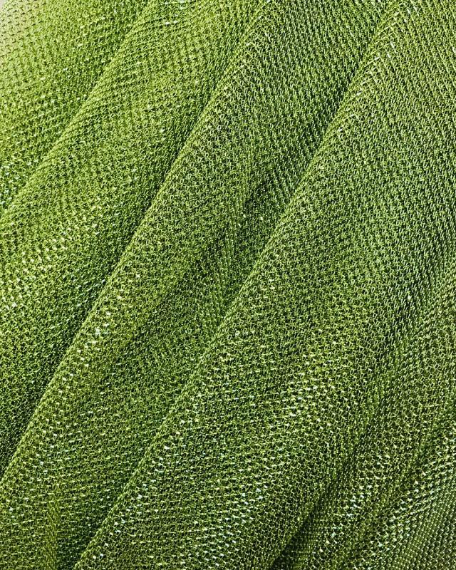 Lurex Metallic Mesh 1 Tone Spring Green - Tissushop