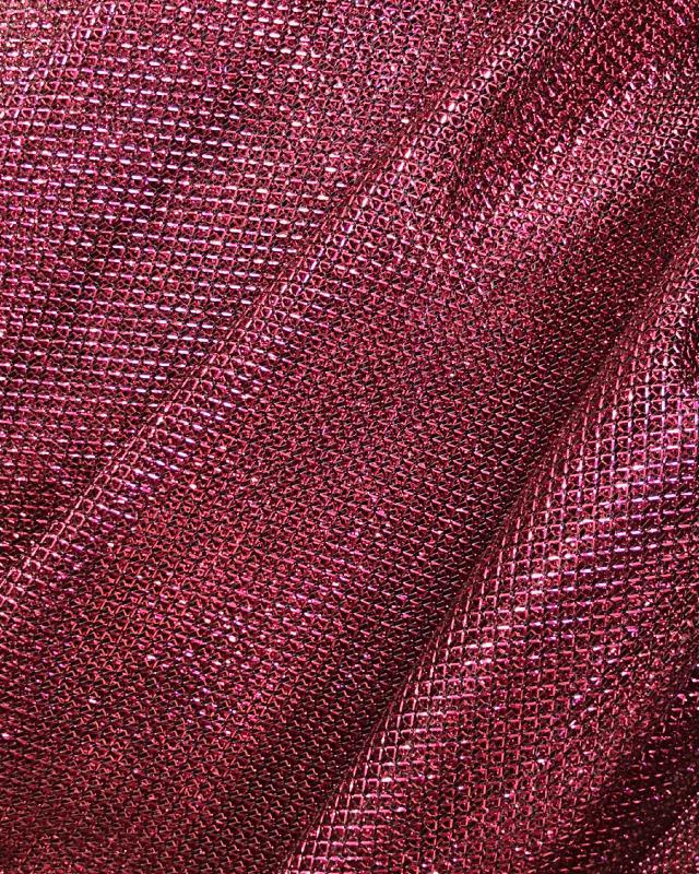 Lurex Metallic Mesh 1 Tone Strawberry - Tissushop