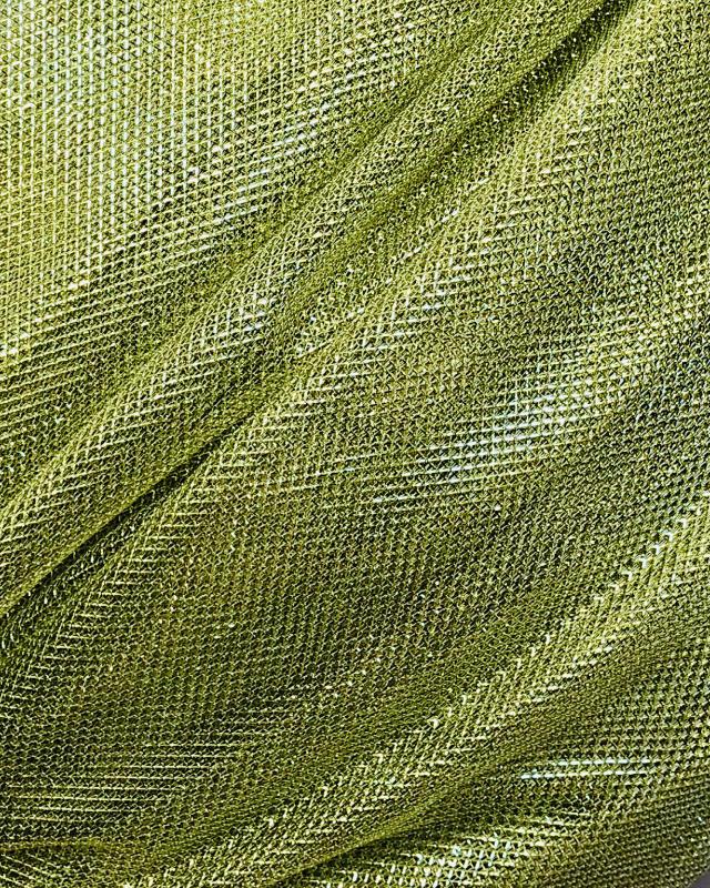 Lurex Metallic Mesh 1 Tone Light Yellow - Tissushop