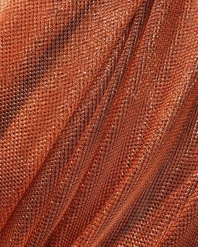 Lurex Metallic Mesh 1 Tone Copper - Tissushop