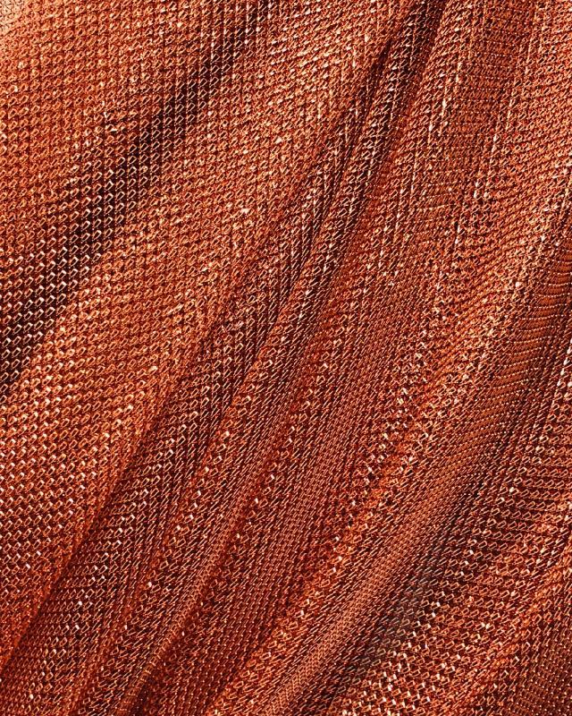 Tulle Lurex Metallic 1 Ton Cuivre - Tissushop