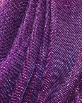 Lurex Metallic Mesh 1 Tone Purple - Tissushop