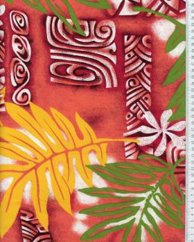 Tissu Polynésien VETEA Rose - Tissushop