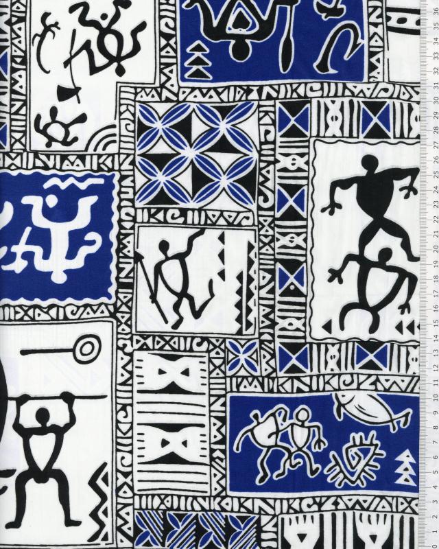 Polynesian Fabric TITAUA Blue - Tissushop