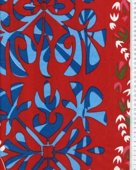 Tissu Polynésien URANUI Rouge - Tissushop