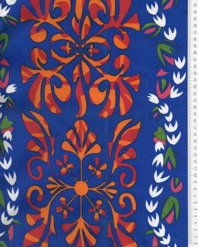 Tissu Polynésien URANUI Bleu - Tissushop