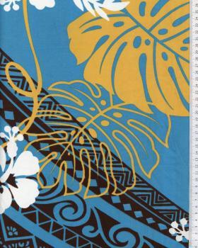 Polynesian Fabric TERENA Blue - Tissushop