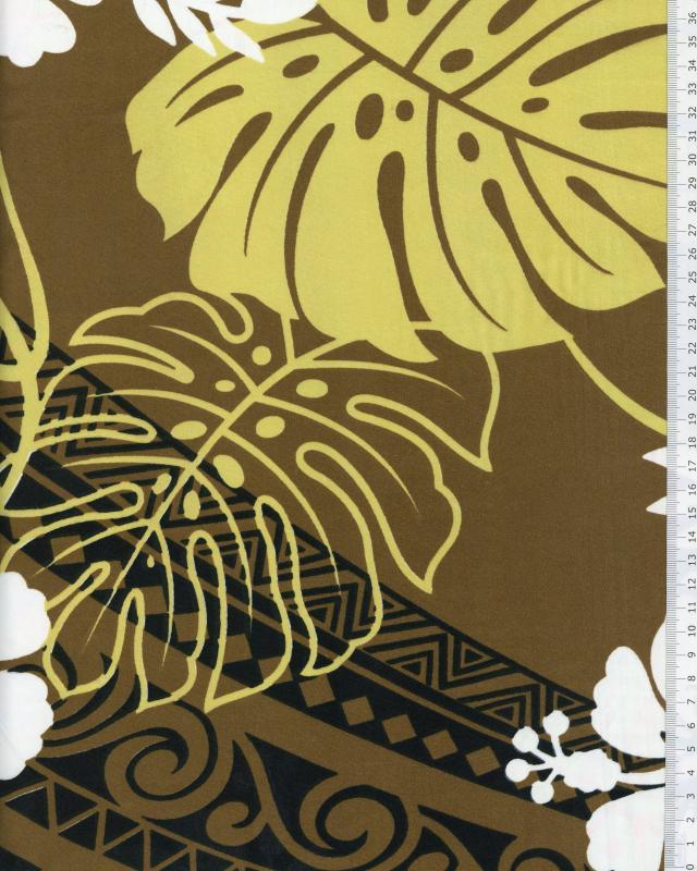 Polynesian Fabric TERENA Brown - Tissushop