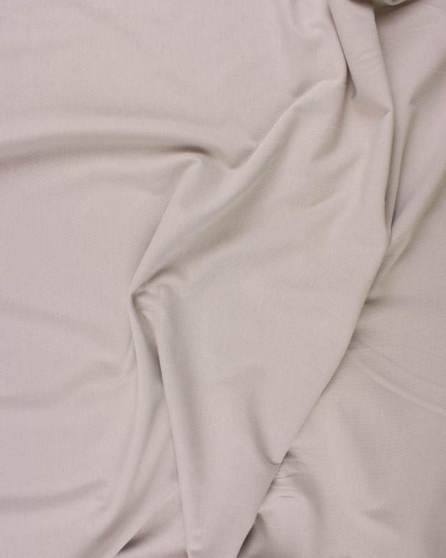 Jersey Coton Peigné Uni Beige - Tissushop