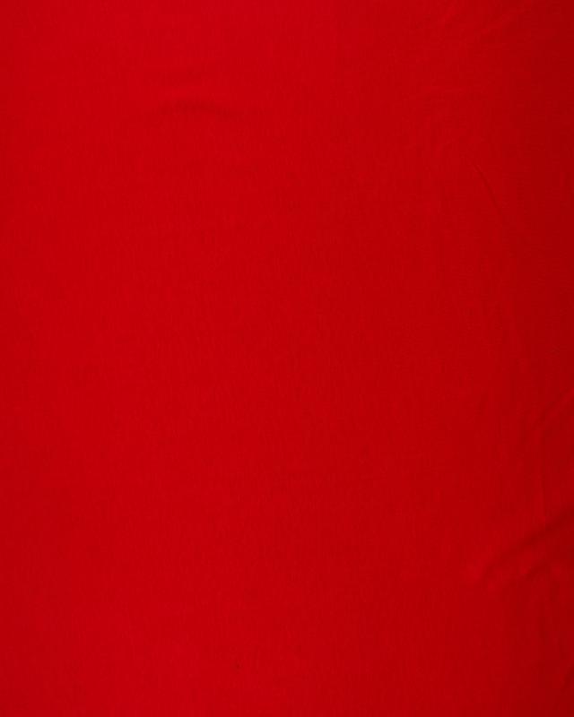 Jersey Coton Peigné Uni Rouge - Tissushop