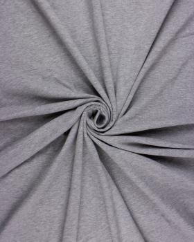 Plain Combed Cotton Jersey Heather Grey - Tissushop