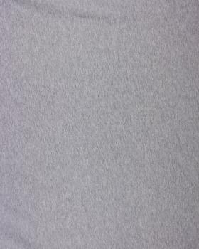 Jersey Coton Peigné Uni Gris Chiné - Tissushop