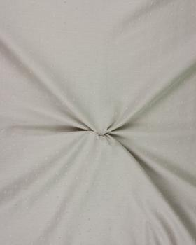 Voile de coton plumetis Beige - Tissushop