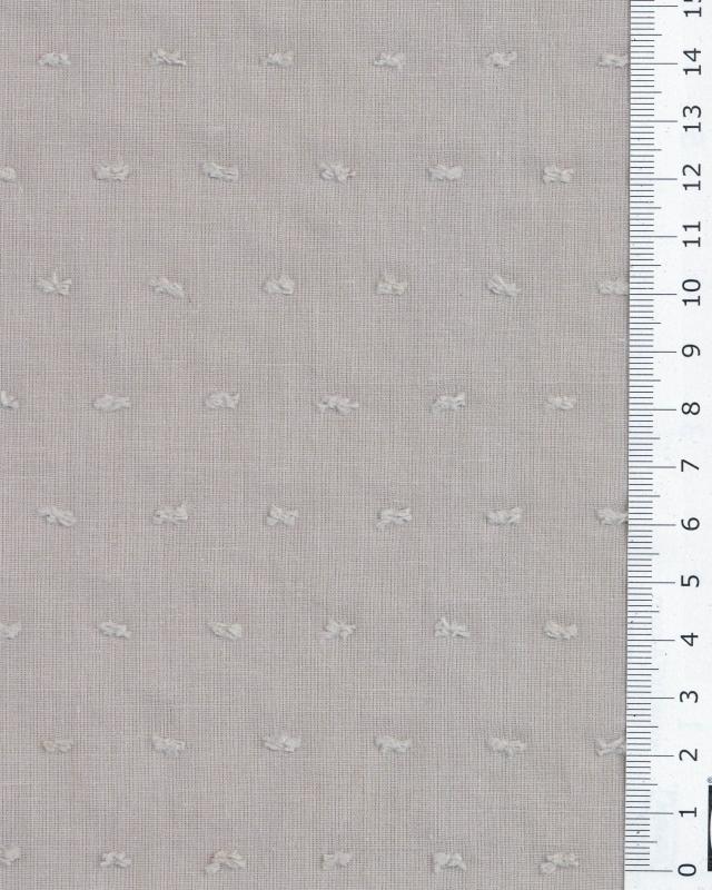 Plumetis cotton voile Beige - Tissushop