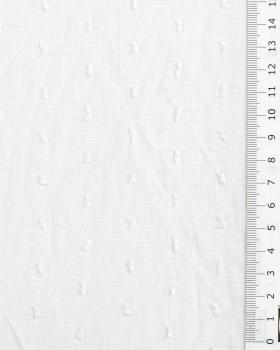 Plumetis cotton voile White - Tissushop