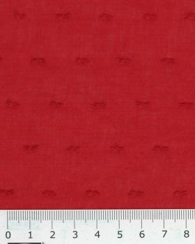 Voile de coton plumetis Rouge - Tissushop