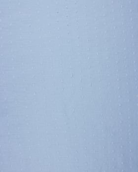 Voile de coton plumetis Bleu Ciel - Tissushop