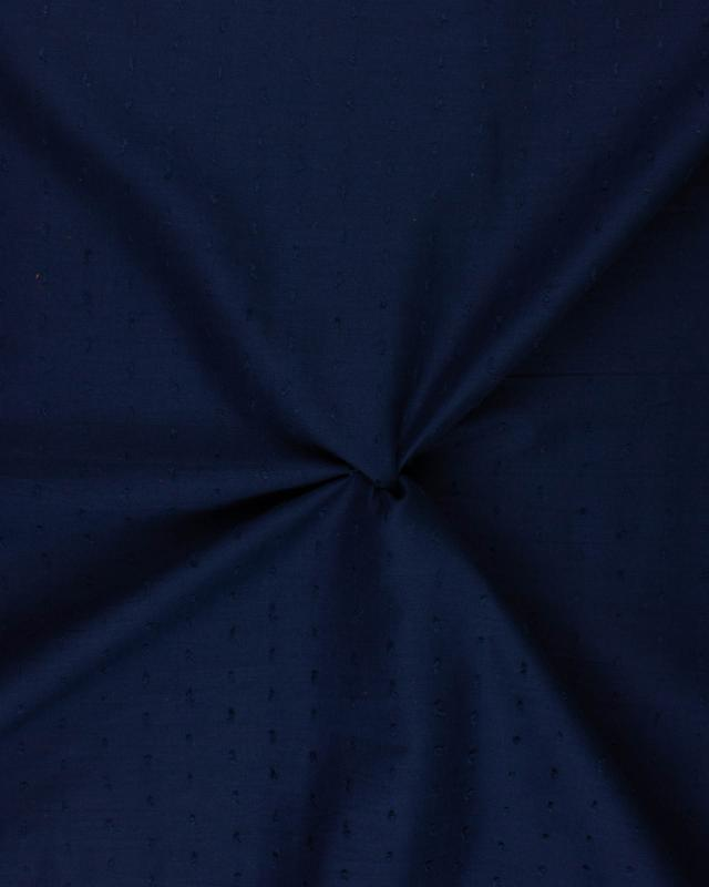 Plumetis cotton voile Navy Blue - Tissushop