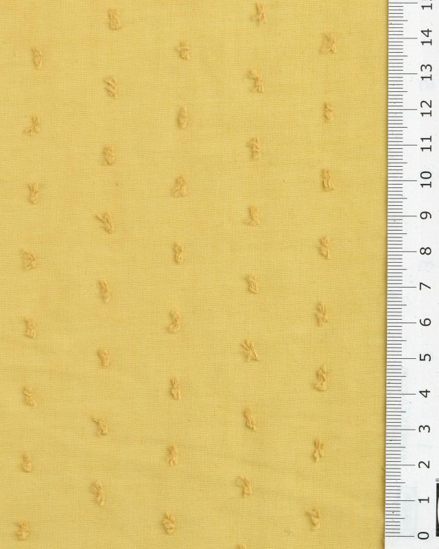 Plumetis cotton voile Mustard - Tissushop