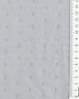 Voile de coton plumetis Gris - Tissushop