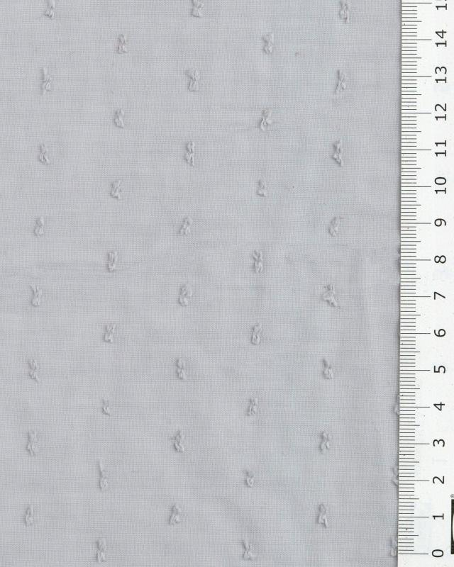 Plumetis cotton voile Grey - Tissushop
