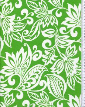 Tissu Polynésien TAVI Vert - Tissushop