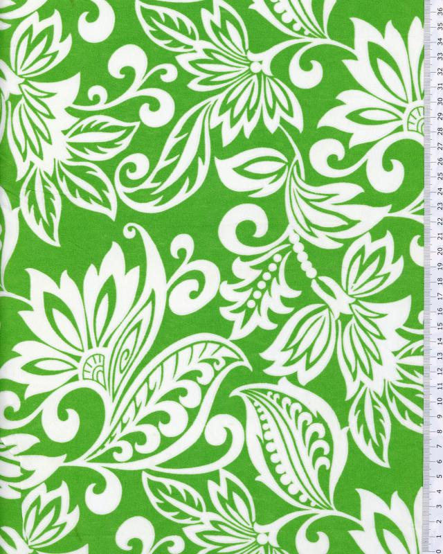 Polynesian Fabric TAVI Green - Tissushop