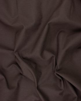Chevron de Coton Uni Marron - Tissushop