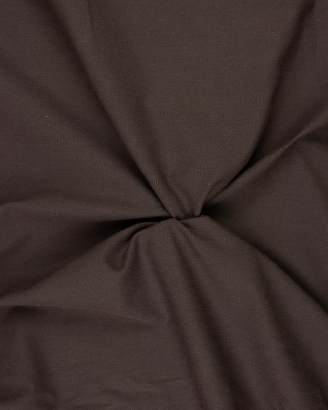 Plain Herringbone Dyed Cotton Brown - Tissushop