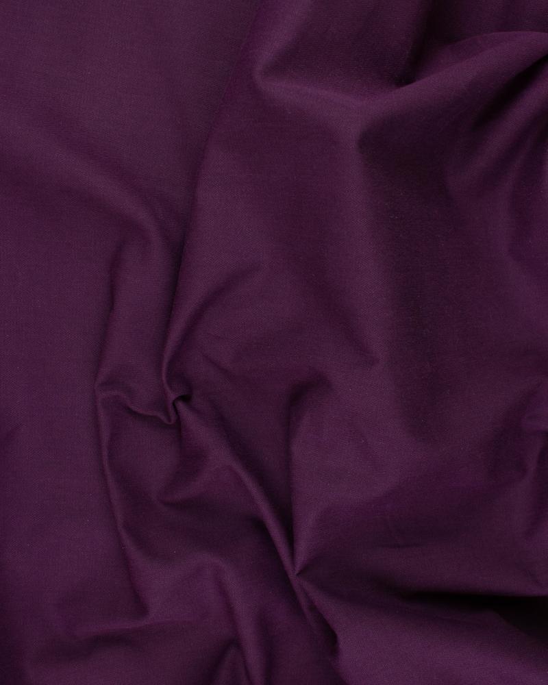 Plain Herringbone Dyed Cotton Plum - Tissushop