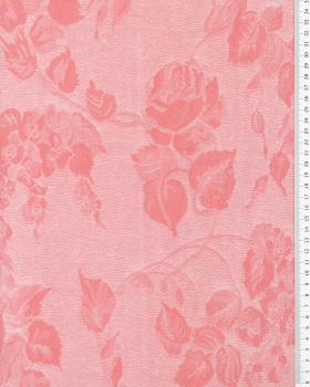 Coutil à matelas fleurs Rose - Tissushop