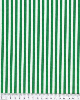 White Stripes Cotton Green - Tissushop