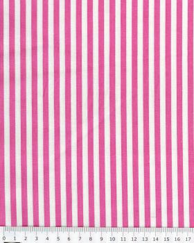White Stripes Cotton Pink - Tissushop