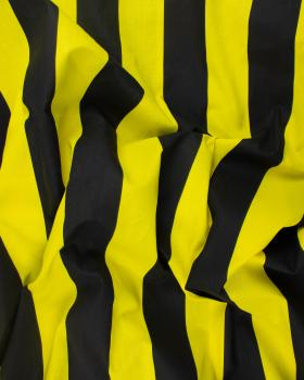 Cotton fabric striped Yellow and Black - Tissushop