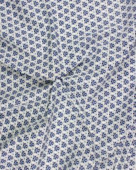 Popeline de Coton - Manco Bleu - Tissushop