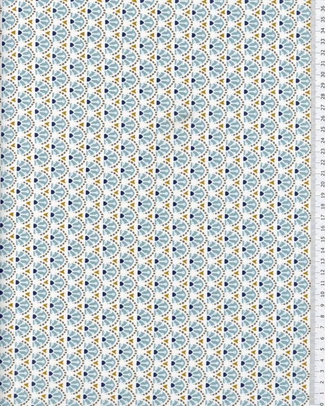 Popeline de Coton - Manco Bleu Ciel - Tissushop
