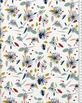 Cotton Popelin - Nicci white / multi vintage - Tissushop