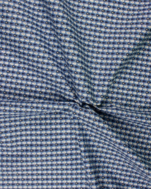 Popeline de Coton - Miluz Bleu - Tissushop