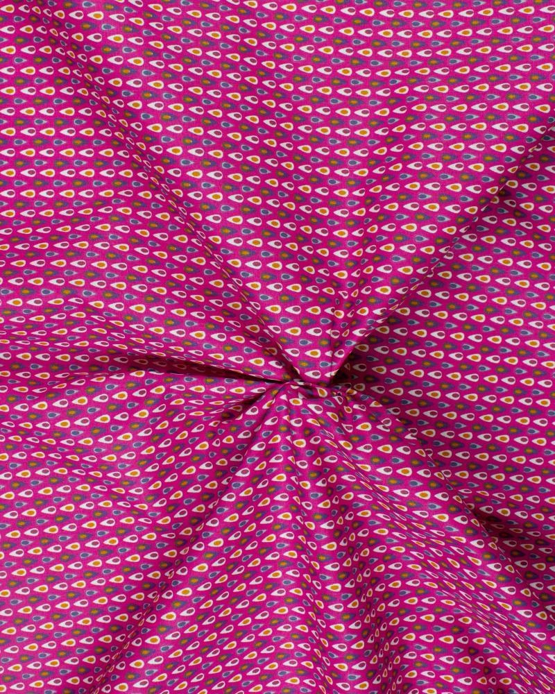 Cotton Popelin - Miluz Fuchsia - Tissushop