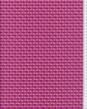 Cotton Popelin - Miluz Fuchsia - Tissushop