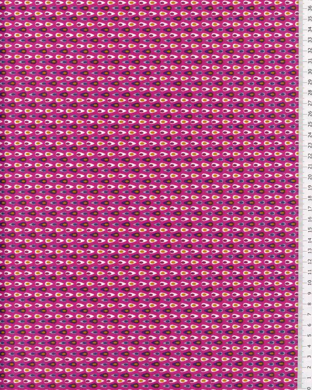 Popeline de Coton - Miluz Fuchsia - Tissushop