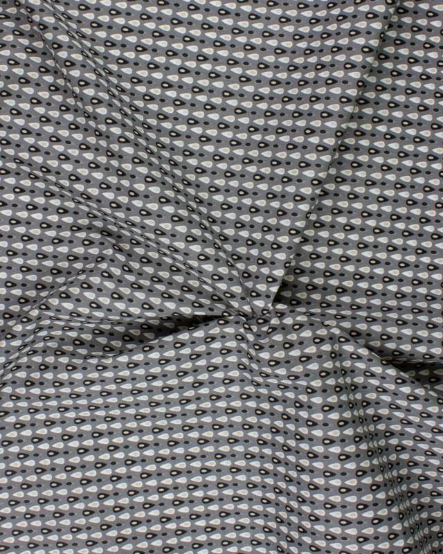 Popeline de Coton - Miluz Gris Anthracite - Tissushop