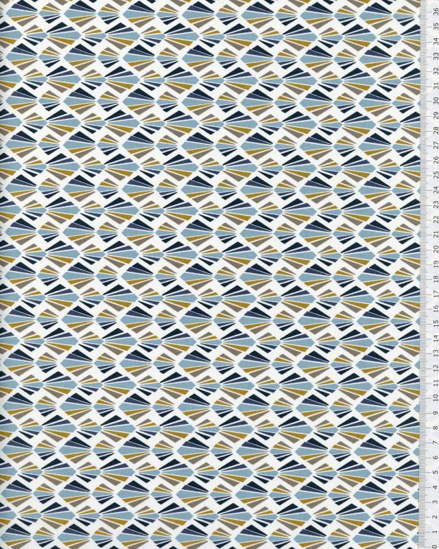 Popeline de Coton - Payani Bleu Ciel - Tissushop