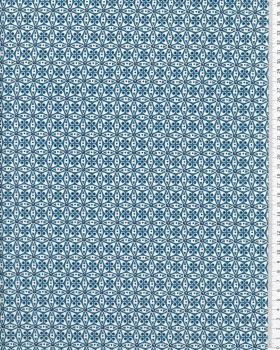 Popeline de Coton - Donna Bleu - Tissushop